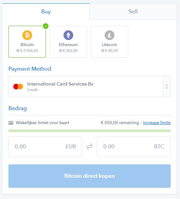 coinbase ethereum kopen creditcard