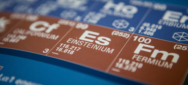 Einsteinium wetenschappelijke coin